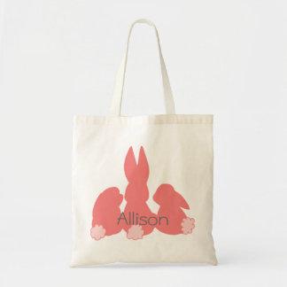 Tote Bag Lapins de Pâques mignons - budget personnalisé