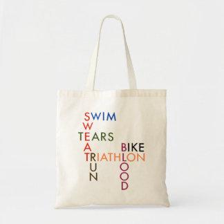 Tote Bag Larmes de sueur de sang de course de vélo de bain