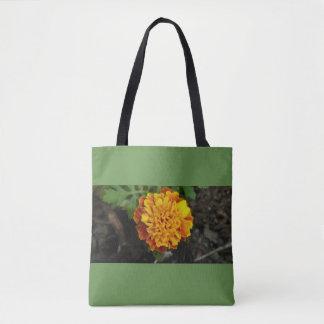 Tote Bag L'arrière - plan orange de vert de fleur portent