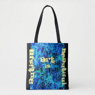 Tote Bag L'art d'autisme est beau