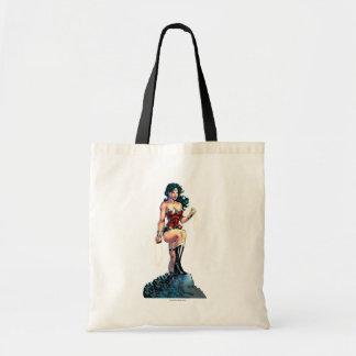 Tote Bag Lasso passionnant de femme de merveille placé sur