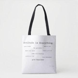 Tote Bag L'attitude est tout petit Fourre-tout