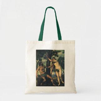 Tote Bag L'automne de l'homme ; Adam et Ève par Titian