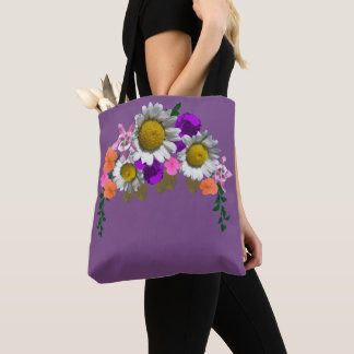 Tote Bag Le beau double d'arrangement floral de marguerite