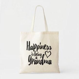 Tote Bag Le bonheur est un coeur de grand-maman