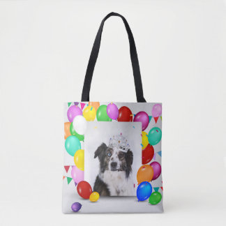 Tote Bag Le chien de berger australien monte en ballon