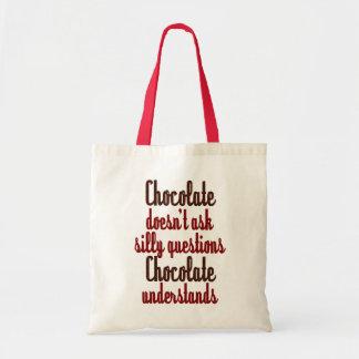 """Tote Bag Le """"chocolat comprend"""" la citation drôle"""