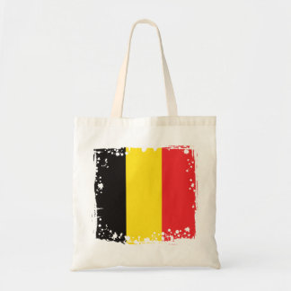 Tote Bag Le drapeau abstrait de la Belgique, Belge colore