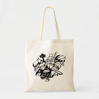 Tote Bag Le griffonnage Fourre-tout Bag_Poker font face