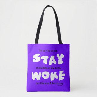 Tote Bag Le séjour chrétien s'est réveillé soit vigilant