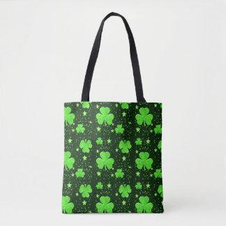 Tote Bag Le shamrock vert mignon tient le premier rôle le