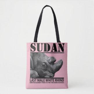 Tote Bag Le Soudan : Dernier rhinocéros blanc masculin