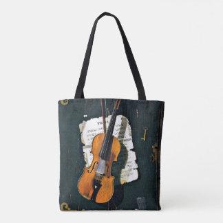 Tote Bag Le vieux violon, peinture de beaux-arts