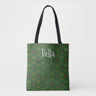 Tote Bag L'érable de chute laisse le modèle vert de nom de