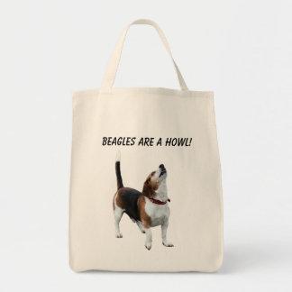 Tote Bag Les beagles sont un chien mignon d'hurlement