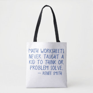 Tote Bag Les fiches de travail de maths n'ont jamais