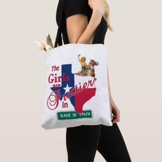 Tote Bag Les filles de cow-girl du Texas sont plus jolies