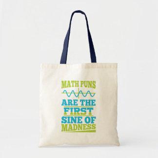 Tote Bag Les maths font des calembours sinus de folie !