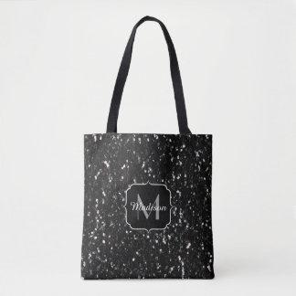 Tote Bag Les parties scintillantes brillantes noires et
