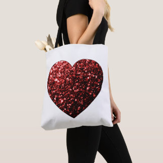 Tote Bag Les parties scintillantes rouges de beau charme