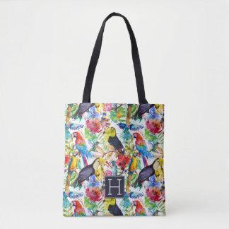 Tote Bag Les perroquets colorés d'aquarelle | ajoutent