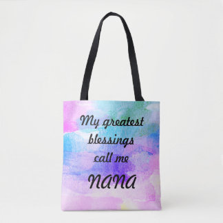 Tote Bag Les plus grandes bénédictions m'appellent Nana