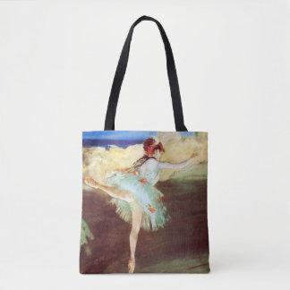 Tote Bag L'étoile : Le danseur sur le point dégazent par
