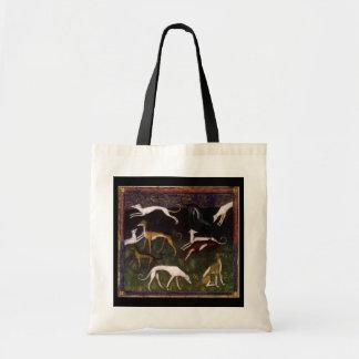 Tote Bag Lévriers médiévaux dans les bois profonds