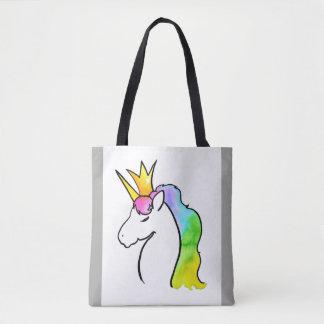 Tote Bag Licorne magique d'aquarelle