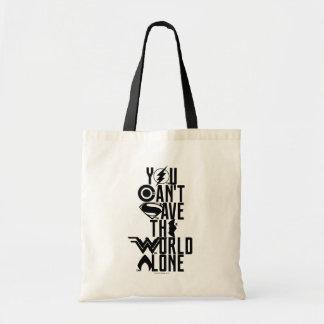 Tote Bag Ligue de justice | vous ne pouvez pas sauver seul