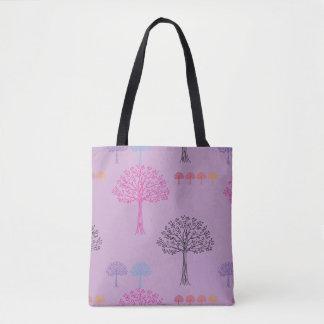 Tote Bag Lilas de fantaisie de motif d'arbre