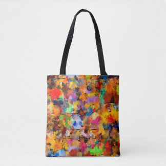 Tote Bag Limande d'art abstrait de couleur d'artiste