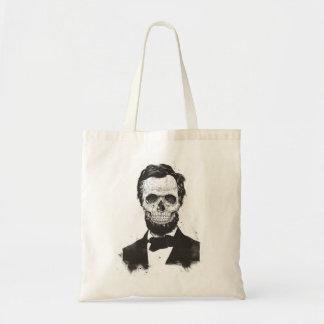 Tote Bag Lincoln mort (noir et blanc)