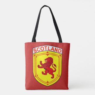 Tote Bag Lion effréné antique rouge de l'Ecosse