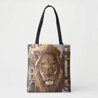 Tote Bag lion en ville
