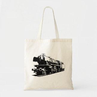 Tote Bag Locomotive à vapeur - contrastée