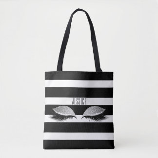 Tote Bag L'oeil de maquillage de parties scintillantes
