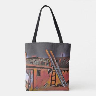 Tote Bag Logement artistique de Navajo du Nouveau Mexique
