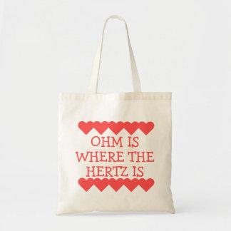 Tote Bag L'ohm est où Hertz est