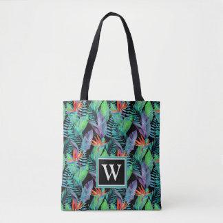 Tote Bag L'oiseau d'aquarelle du paradis | ajoutent votre