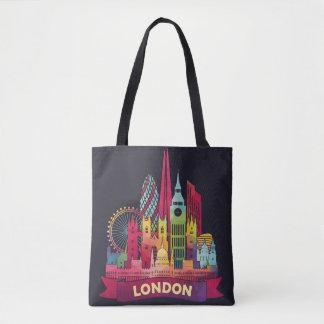 Tote Bag Londres - voyage aux points de repère célèbres