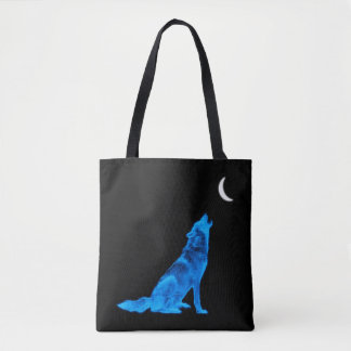 Tote Bag Loup bleu d'hurlement