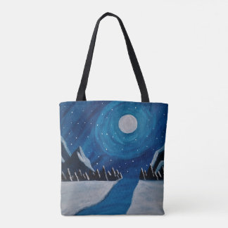 Tote Bag Lune bleue