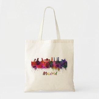 Tote Bag Madrid skyline in watercolor