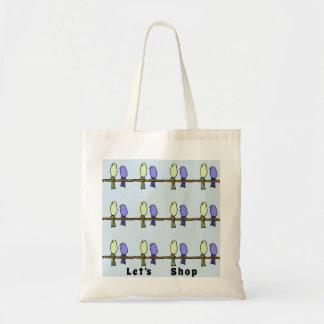 Tote Bag Magasin avec des couples d'oiseau