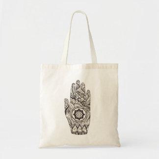 Tote Bag Main Lotus de henné