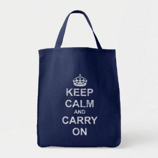 Tote Bag Maintenez calme et continuez le cru
