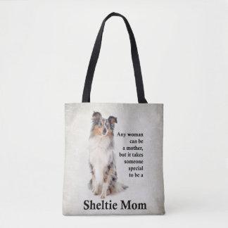 Tote Bag Maman bleue Fourre-tout de Merle Sheltie