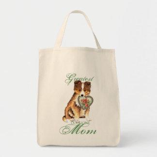 Tote Bag Maman de coeur de Sheltie