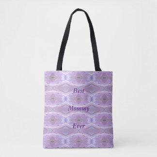 Tote Bag Maman Ever de motif artistique de lavande